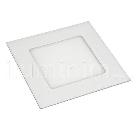 Kit 5 Luminária Plafon LED 6w Embutir Branco Frio