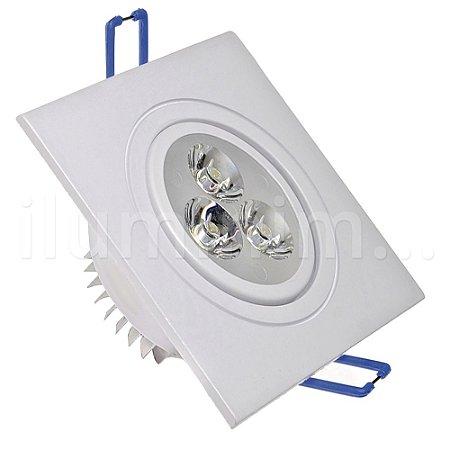 Kit 12 Spot 3W Dicróica LED Direcionavel Base Branca