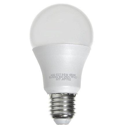 Lâmpada LED Bulbo 9W E27 Bivolt Branca | Inmetro