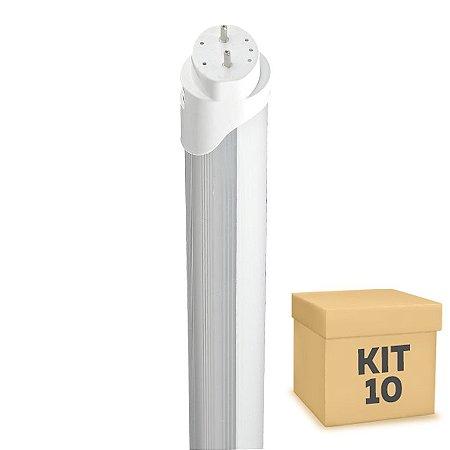 Kit 10 Lampada LED Tubular HO 36w 2,40m T8 Branco Frio | Inmetro