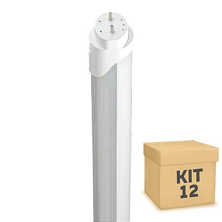 Kit 12 Lampada LED Tubular HO 36w 2,40m T8 Branco Frio | Inmetro