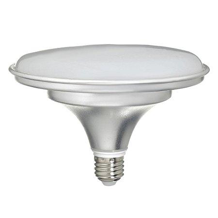 Lâmpada LED Prato 36W Bivolt Prateada Branco Frio  | Inmetro