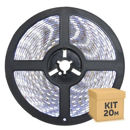 Fita LED Branco Frio 3528 20 metros com Fonte