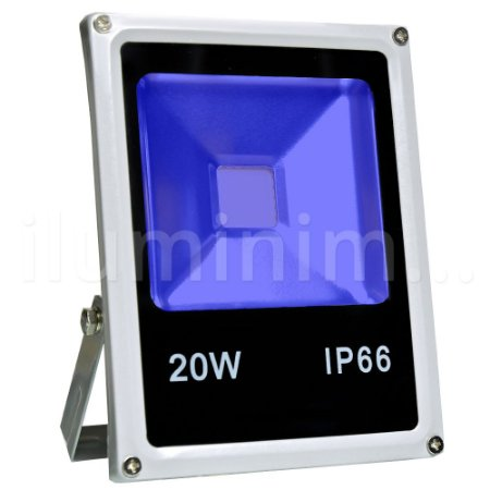Kit 10 Refletor Holofote LED 20w Azul
