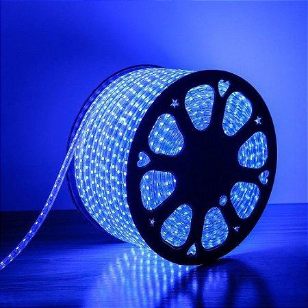 Fita LED Azul 3528 100 metros Dimerizável 110v - À prova d'água