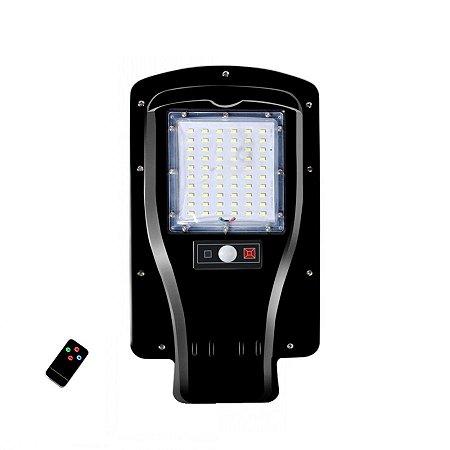 Luminária LED Pública Solar 30w 60 Leds Auto Recarregável