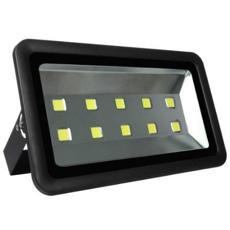 Refletor Holofote LED 500w Branco Frio Preto