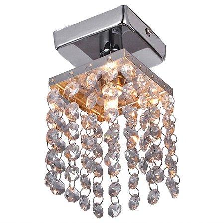 Lustre Pendente LED Cristal 12x12