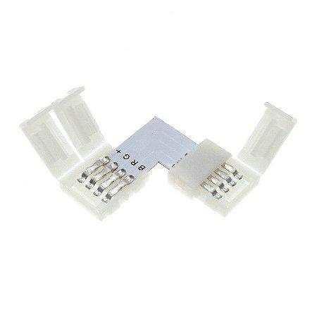 Emenda para Fita LED 5050 RGB em L - 10mm