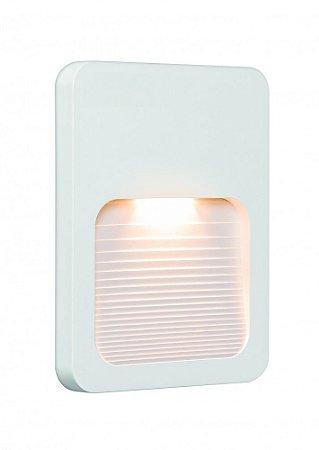 Balizador LED 2W De Sobrepor Externo Branco Fit