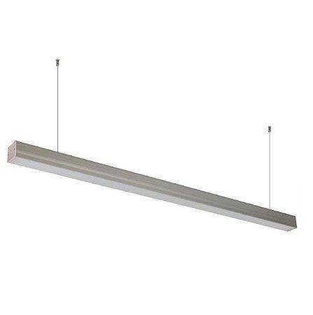Luminária Linear LED 14W 56cm Branco Frio Completa