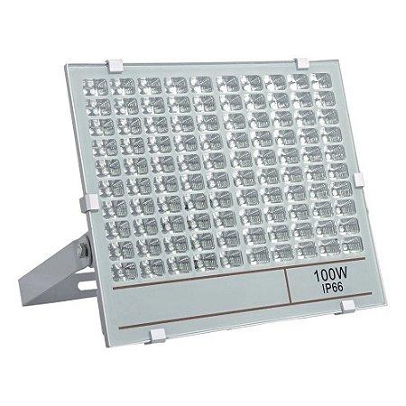 Refletor Holofote MicroLED 100W Multifocal Branco Frio Metálico