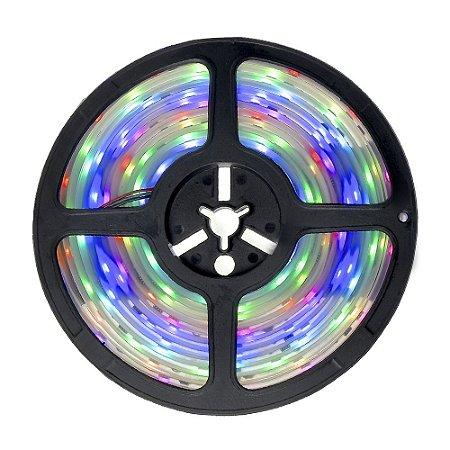 Fita LED Digital RGB 6803 Colorida 5 metros com Fonte - À prova d'água