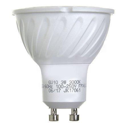 Lâmpada Dicroica LED GU10 3w Branco Quente | Inmetro