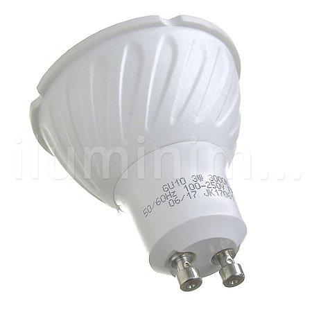 Lâmpada Dicroica LED GU10 3w Branco Quente   Inmetro