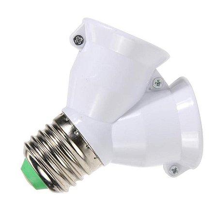 Adaptador Soquete LED E-27 Duplo