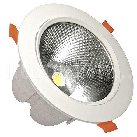 Spot LED COB 30W Embutir Direcionável Branco Frio