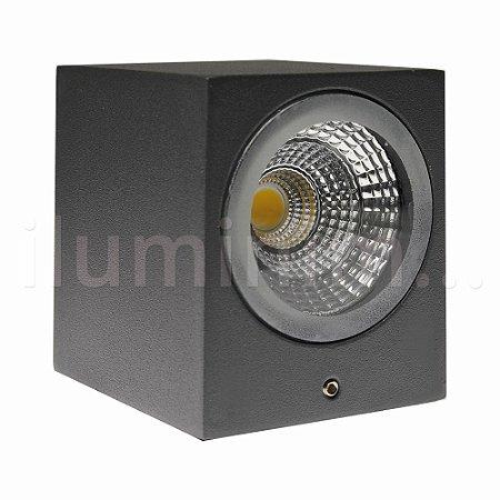 Luminária Arandela LED 3W Branco Quente Quadrada