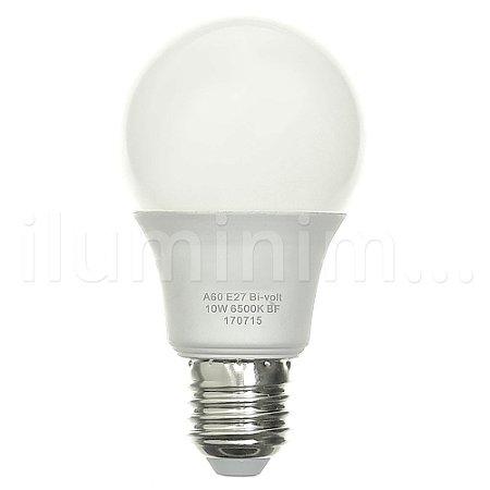 Lâmpada LED Bulbo 10W Residencial Branco Frio Bivolt | Inmetro