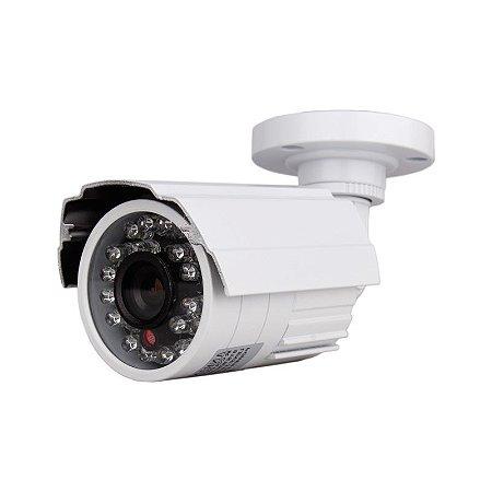 Kit 4 Câmera Segurança de LED Bullet Infravermelho HD 24 LEDs 1200 Linhas