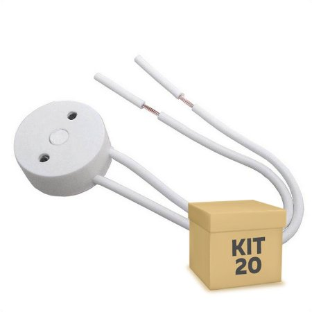 Kit 20 Soquete Para Lâmpada LED Tubular T8
