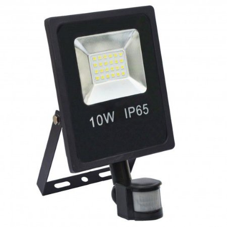 Refletor Holofote MicroLED 10w Sensor de Presença Branco Frio