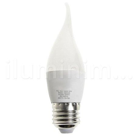 Lâmpada Vela Leitosa LED 5w Branco Quente Com Bico