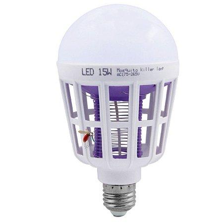 Lâmpada LED 15W Repelente de Mosquitos Insetos Branco Frio | Inmetro