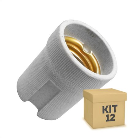 Kit 12 Adaptador Soquete LED E-27