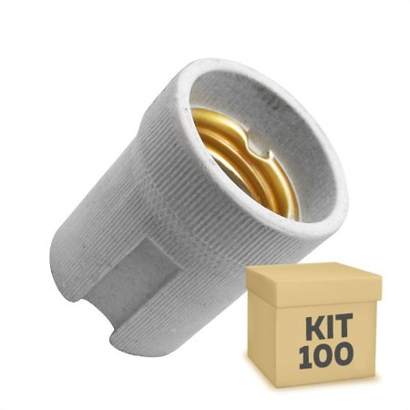 Kit 100 Adaptador Soquete LED E-27
