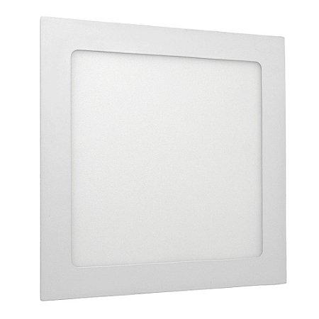 Luminária Plafon 18w LED Embutir Branco Neutro