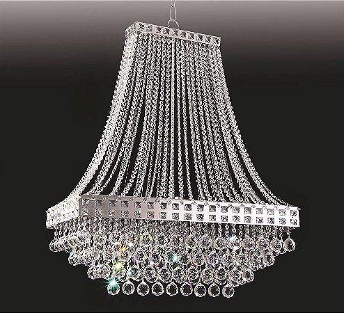 Lustre Pendente LED Cristal 40x20