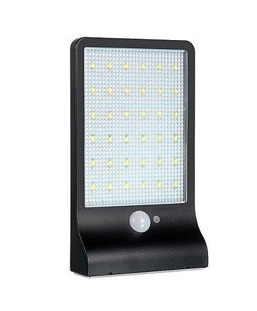 Luminária LED Pública Solar 20w 42 Leds Auto Recarregável
