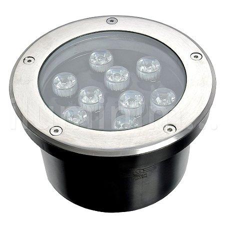 Spot Balizador LED 9W Verde para Piso