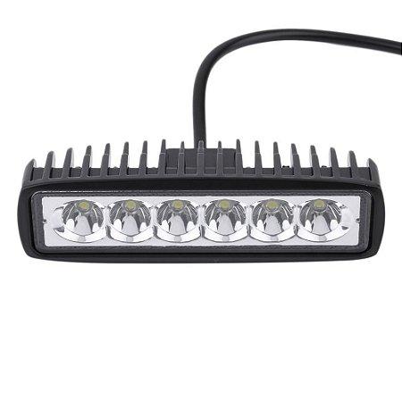 Farol de Milha Auxiliar 6 LEDs 18w Off Road Moto Carro