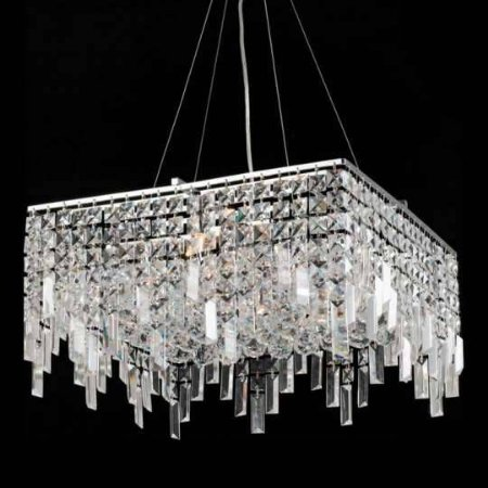 Lustre Pendente LED Cristal e Alumínio