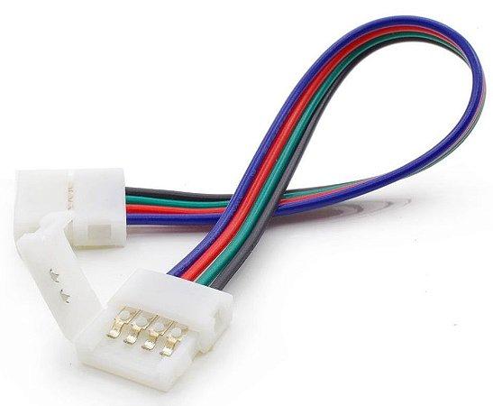Conector para Fita LED 5050 RGB 10mm - 4 Vias  2 Terminais