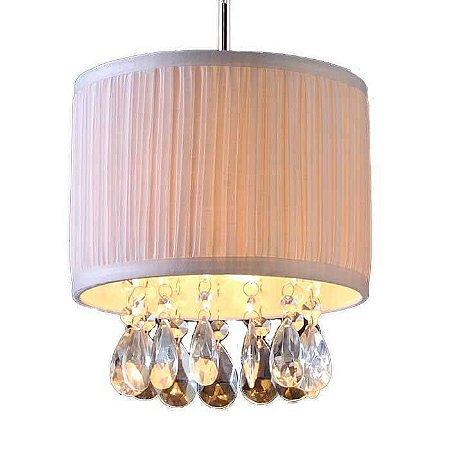 Lustre Pendente LED Cristal 20x18