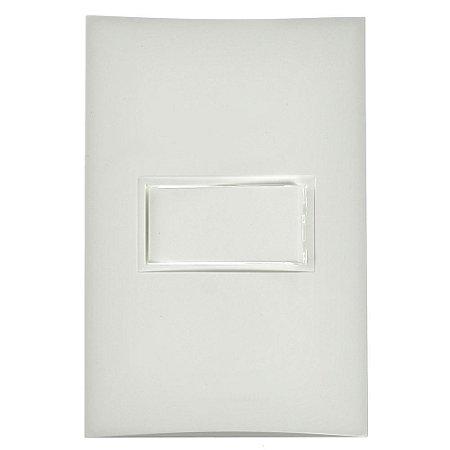 Conjunto Interruptor Simples de Embutir 10A Branco