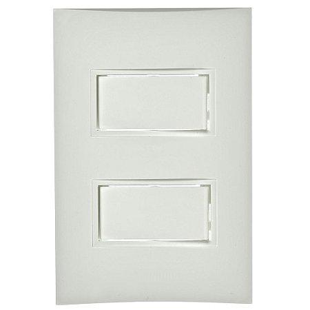 Conjunto 1 Interruptor Simples + 1 Interruptor Paralelo de Embutir 10A Branco