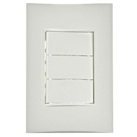 Conjunto 1 Interruptor Simples + 2 Interruptores Paralelos de Embutir 10A Branco