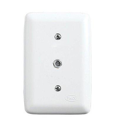 Conjunto Conector para Antena TV de Embutir Branco