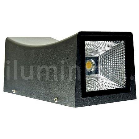Luminária Arandela LED 20W Branco Frio Retangular