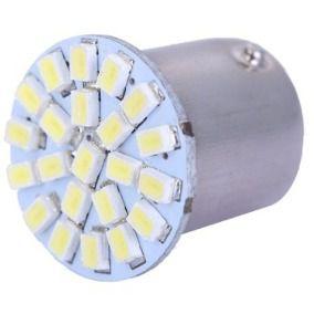 Lâmpada LED Automotiva BA15S 22 Leds 1 Polo 12V Branco Quente