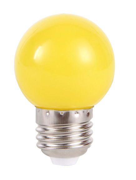Lâmpada LED Bolinha 1w Amarela