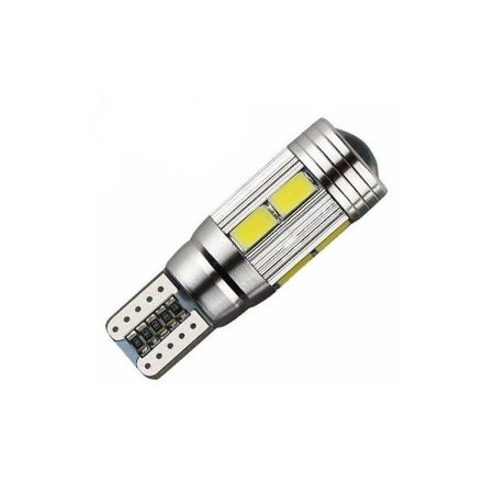 Lâmpada LED Automotiva T10 Cambus Cree 10 Leds Rosa