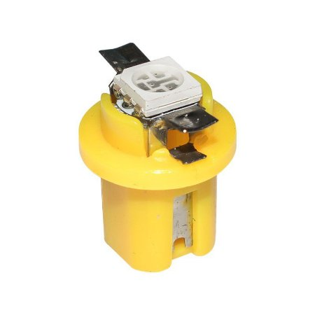 Lâmpada LED Automotiva T5 1W B8.5D Amarela