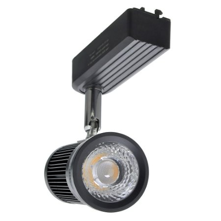 Mini Spot LED 20W Branco Quente para Trilho Eletrificado Preto