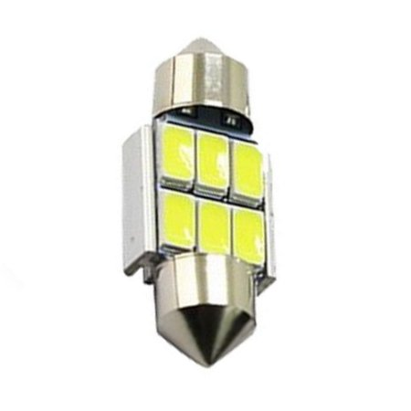Lâmpada LED Automotiva Torpedo 6 Leds C5w 31mm