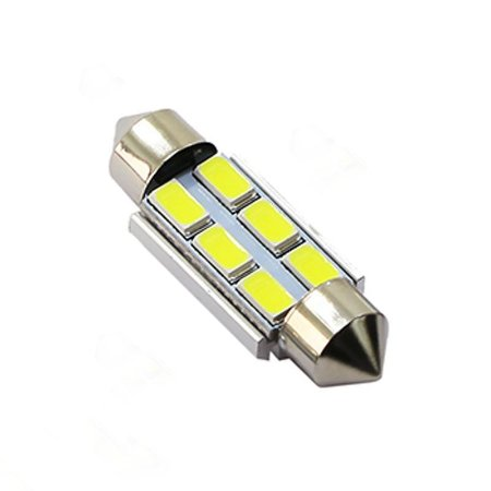 Lâmpada LED Automotiva Torpedo 6 Leds C5w 36mm